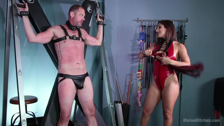 Abella Danger Fucks Man in the Ass in her First Divine Bitches Shoot!!
