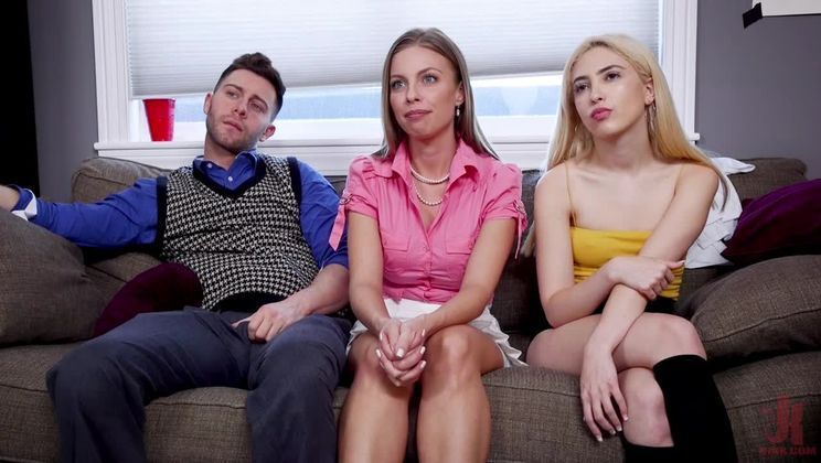 How to Fuck Like a Lady: Anal Housewife Trains Son's Bratty Girlfriend