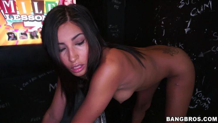 Petite Latina loves sucking dick