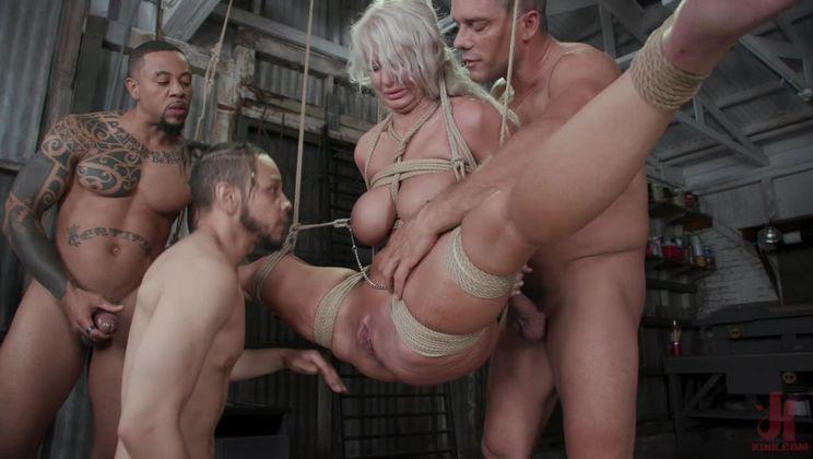London's Stripper Fantasy GangBang: London Stuffed Airtight After Work