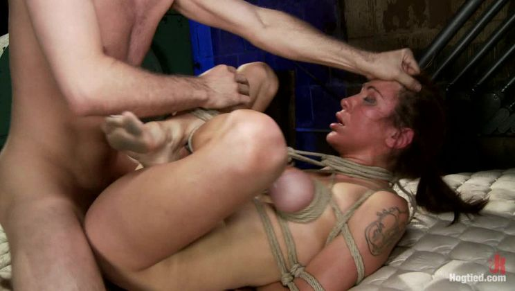 """""""The Limo"""": A Hogtied Feature Movie. A fantasy BDSM abduction movie starring Princess Donna"""